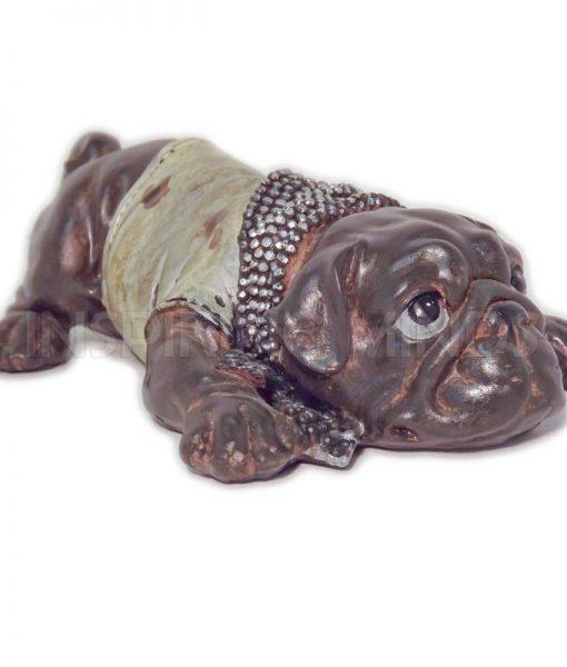 Lying Bulldog Droopy Eyes 18cm