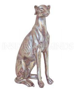 Beeldje Hond Zilver 40cm