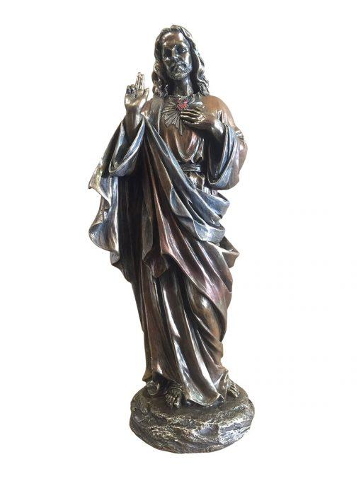 Jezus beeld bronskleur